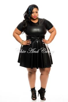 New Plus Size Skater Dress with Cutout in Yellow Lace - Chic And ...