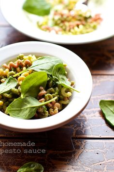 Toasted Walnut Spinach Pesto Pasta