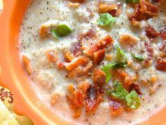 {Paleo} Roasted Cauliflower, Mushroom & Bacon Soup. Sounds lovely!