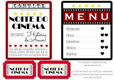 Cinema em casa a dois | Namorada Criativa - Por Chaiene Morais Cinema Party, Movie Party, Letter E Art, Birthday Presents For Friends, Birthday Box, Love Days, Diy Presents, Gifts For My Boyfriend, Romantic Dinners