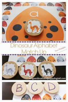 Frogs and Snails and Puppy Dog Tail (FSPDT): Dinosaur Alphabet Match Up