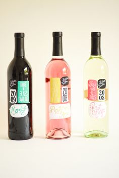 wine bottles designed by Ali LaBelle