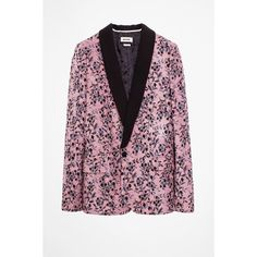 Vito Flower Velvet Blazer (9,510 MXN) ❤ liked on Polyvore featuring outerwear, jackets and blazers