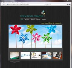 Kellie Lewis Creative - Wix HTML5 website for Graphic, Web, Interactive & Creative Copy Design