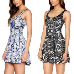 Dark Moth Vs Play With Me Inside Out Dress - LIMITED (WW ONLY $170AUD) by Black Milk Clothing