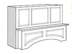 Rockport RTA Kitchen Cabinet - Vent Hood (KR-PH4224)