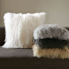 Mongolian lamb pillow covers by West Elm