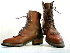 NEW WOMENS Size 8.5 Durango Lace-Up Roper Boots Light Brown COWGIRL Southwestern #Durango #LaceUpRoper