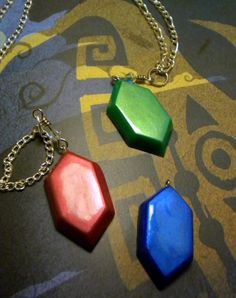 Green Rupee Necklace - Legend of Zelda - Nintendo - A Portion of the Proceeds Go To Charity. $18.00, via Etsy.