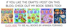 Kid's craft books by Amanda Formaro, see the entire Mania series including rubber bands, duct tape, paper, buttons, bottle caps and even Star Wars!