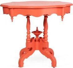 One Kings Lane - John Loecke & Jason O. Nixon - Coral-Hued Victorian-Era Table