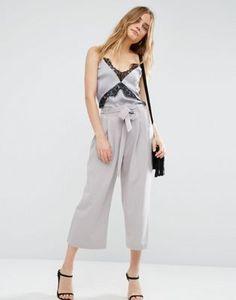 Falda pantalón con lazada en la cintura de ASOS Tailored