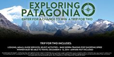 It's time to explore Patagonia! Enter to win a trip for two from Sierra Trading Post -- http://stp.me/skzqc #giveaway #patagonia #travel
