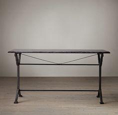 Bluestone & Cast Iron Pedestal Rectangular Dining Table  Price : 995.00$ Sale Off Price: 845.00$