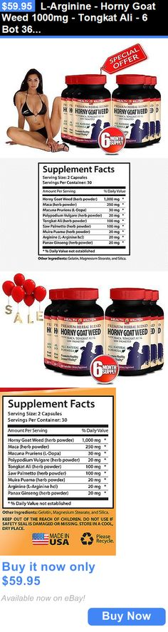 Body Fat Analyzers: L-Arginine - Horny Goat Weed 1000Mg - Tongkat Ali - 6 Bot 360 Ct BUY IT NOW ONLY: $59.95