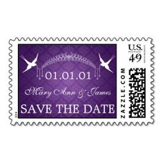 Wedding Save The Date Birds & Diamonds Purple Postage Stamp online after you search a lot for where to buyDiscount Deals          Wedding Save The Date Birds & Diamonds Purple Postage Stamp today easy to Shops & Purchase Online - transferred directly secure and trusted checko...