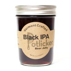 Black India Pale Ale Beer Jelly - Potlicker Kitchen