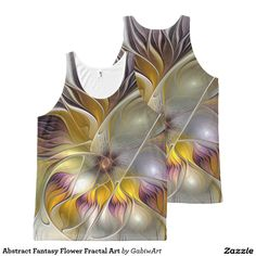Abstract Fantasy Flower Fractal Art All-Over Print Tank Top