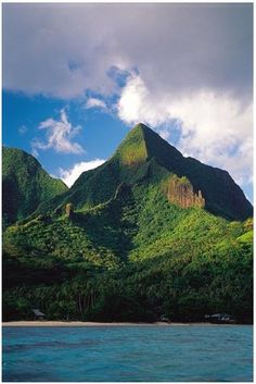Mountains in Moorea, Tahiti