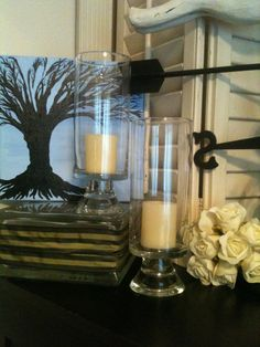 Hurricane Footed  Candle Holder / Vase by OurBurrowDesign on Etsy, $15.00