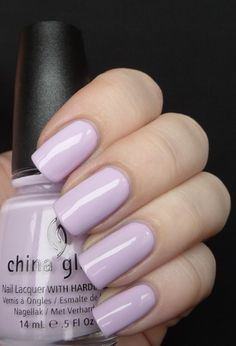 "China Glaze ""Sweet Hook"", a light lilac creme. #nail polish / lacquer / vernis, swatch / manicure. #pastel"