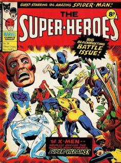 The Super-Heroes (Volume) - Comic Vine Marvel Comics Superheroes, Marvel Comic Books, Marvel Vs, Marvel Dc Comics, Marvel Heroes, X Men, Classic Comics, Silver Surfer, Comic Book Covers