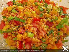 Roter Linsen - Salat, ein schönes Rezept aus der Kategorie Gemüse. Bewertungen: 52. Durchschnitt: Ø 4,1.