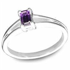 Effy Jewlery Sterling Silver Amethyst Ring, .26 TCW Ring size 7