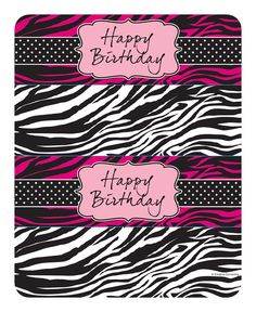 Turn a plain water bottle into a wildly special drink with water bottle labels that coordinate with the party decorations!  The Pink Zebra Boutique Bottle Labels come in two designs