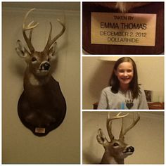 Emma's nine-point buck, all harvested and everything!