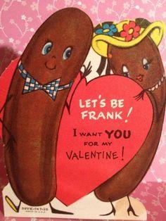 Vintage Valentine Hotdog Franks