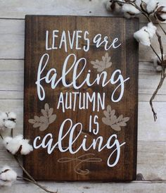 $30.00 Leaves Are Falling Autumn Is Calling Wooden Sign #autumn #fall #ad #farmhouse #sign #leaves #fixerupper