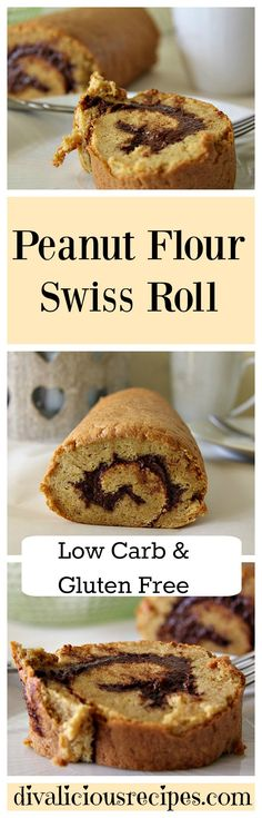 This peanut flour swiss roll cake is a great way to bake with peanut flour. It does not have a strong peanut taste but is a light and tasty sponge. Recipe: http://divaliciousrecipes.com/2017/02/02/peanut-flour-swiss-roll-cake/