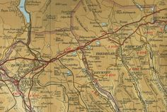 Tredegar, Monmouthshire, England | View an old map of the town of Tredegar in Monmouthshire, Wales, as ...