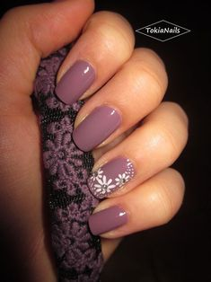 Awesome lilla flowers by tokianails from nail art gallery 2017 spring nail colors, popular nail Gorgeous Nails, Fabulous Nails, Pretty Nails, Nagellack Design, Nagellack Trends, Spring Nail Colors, Spring Nails, Spring Nail Art, Summer Colors