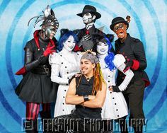 Steam Powered Giraffe! Rabbit, The Spine, Hatchworth, Walter Girl Chelsea, Walter Girl Carolina, Steve Negrete and Lil Steve. You can find this and many more official SPG prints in the GeekShot store.