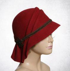 Sophia Fur Felt Cloche millinery hat with side by LuminataCo