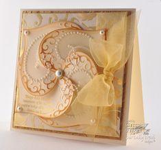 a swirl of die- cut hearts fills this card ... looks a bit like a pinwheel ... beautiful!!!
