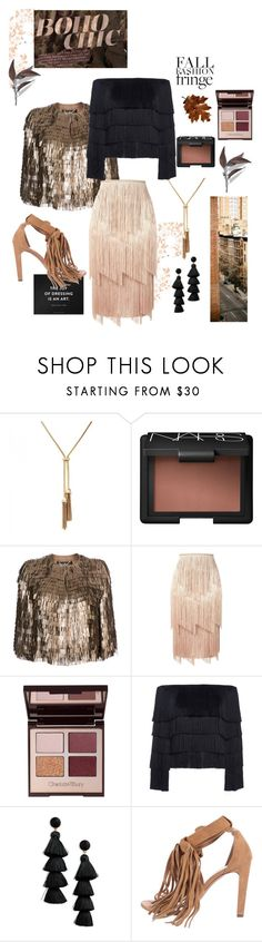 """Fall Fashion: Fringe"" by egchee ❤ liked on Polyvore featuring NARS Cosmetics, Salvatore Ferragamo, Tom Ford, Behance, A.L.C., BaubleBar, MANGO, Fall, fringe and boho"