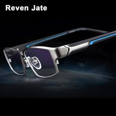 "Universe of goods - Buy ""Reven Jate Fashion Men Eyeglasses Frame Ultra Light-weighted Flexible IP Electronic Plating Metal Material Rim Glasses"" for only USD. Glasses Frames Trendy, Eyeglass Frames For Men, Rimless Glasses, Men Eyeglasses, Mens Glasses, Plating, Mens Fashion, Lights, Stuff To Buy"