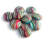 Stripey like sweets polymer beads...