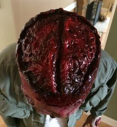 Most excellently disgusting! Brain Latex Prosthetic Zombie Makeup by JaneDoeFX