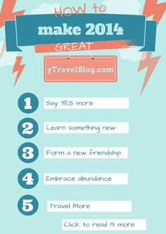24 ways to make 2014 great - visit this blog post and get started!