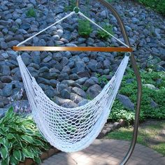 Not exactly this one but hammock chair and way to hang it up