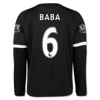 Chelsea FC 2015-16 Season BABA #6 LS Third Soccer Jersey