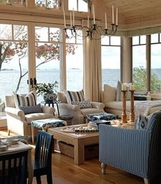 I mean, of course this is beautiful, those views + windows on three sides = perfection. I love Sarah Richardson's use of pattern (and all that seating!)