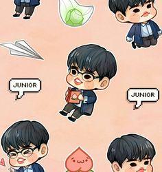 Got7 Fanart, Kpop Fanart, Chibi, Got7 Junior, Park Jin Young, Got7 Jinyoung, Mark Jackson, Photo Illustration, Memes