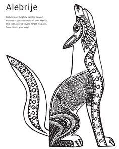 Alebrije Coloring Book Page