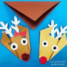 Easy Origami Reindee