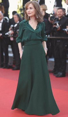 A bespoke moment – Isabelle Huppert wowed the crowd last night in a bespoke Chloé look on the red carpet at Cannes Film Festival, showcasing the Maison's distinct couture savoir-faire in Cannes, May 2016. #chloeGIRLS